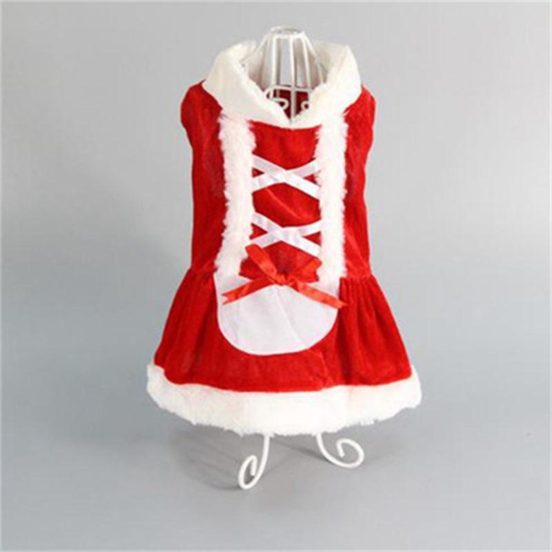 Dog Costume Christmas Pet Clothes Winter Hoodie Coat Dress