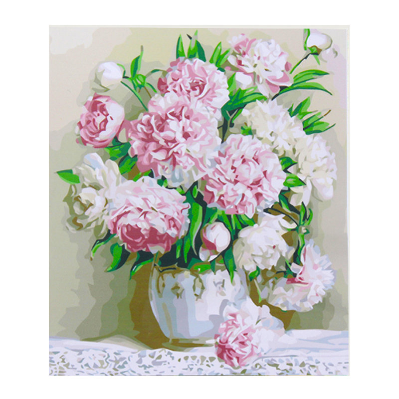 40*50cm Beauty Peony Flowers DIY Paint By Number Kit Digital Canvas Painting Home Decor