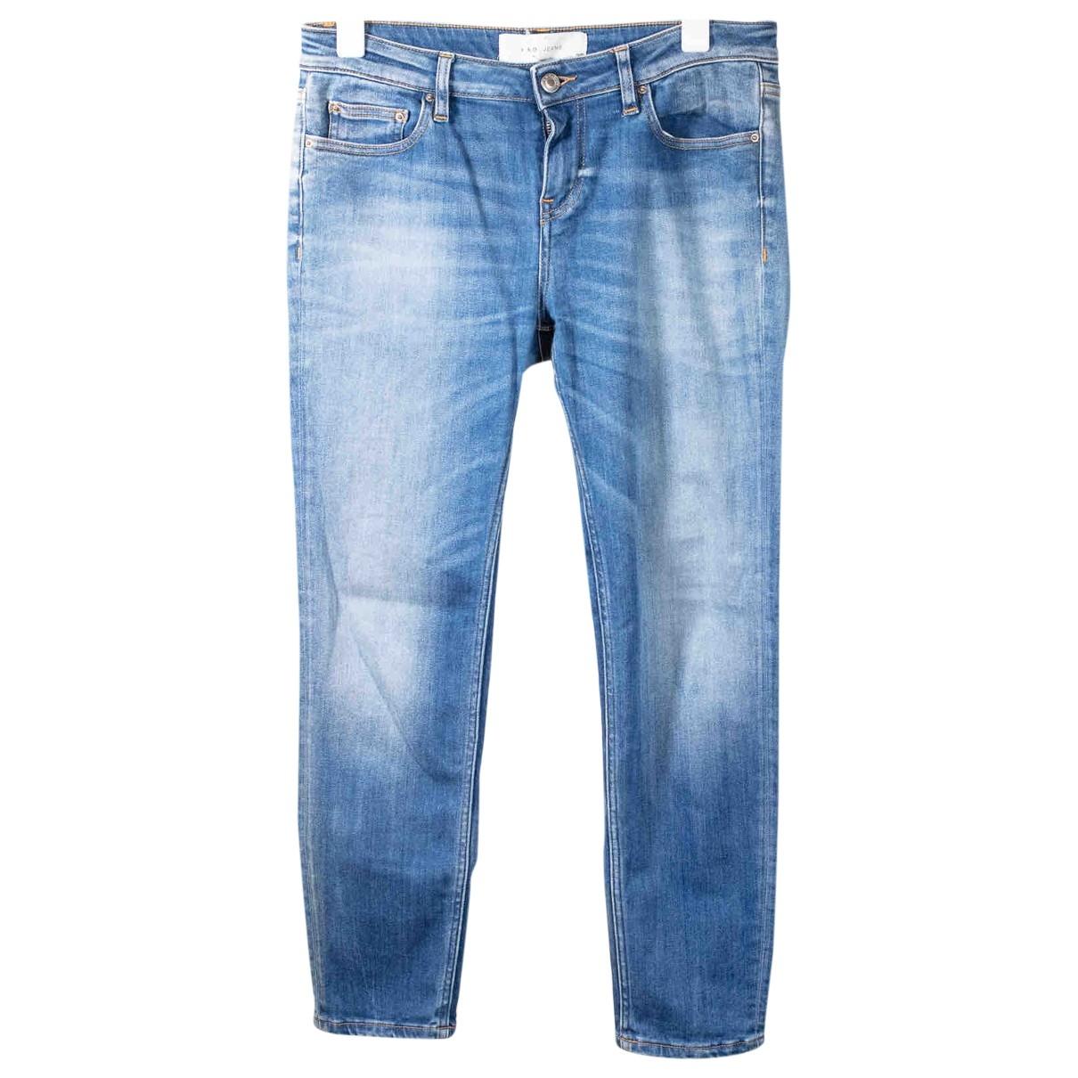 Iro \N Blue Cotton - elasthane Jeans for Women 30 US