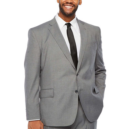 JF J.Ferrar Big and Tall Stretch Ultra Suit Jacket, 54 Big Long, Gray