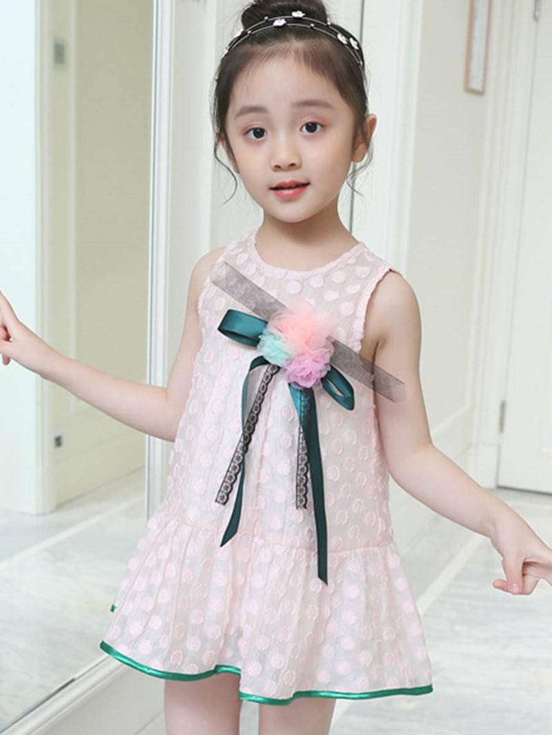 Ericdress A-Line Floral Girl's Sleeveless Dress