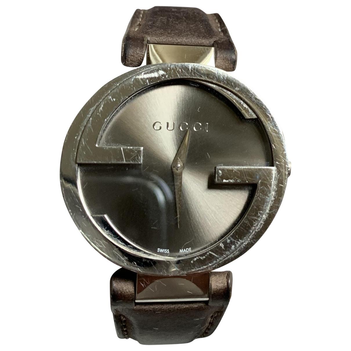 Gucci Interlocking Brown Steel watch for Women \N
