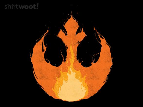 Rebel Flames T Shirt