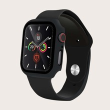 1pc Silicone iWatch Band With iWatch Case & Tempered Film