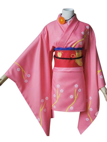 Milanoo Gintama Yagyuu Kyuubee Halloween Cosplay Costume Female Version Lolita Kimono Dress Halloween