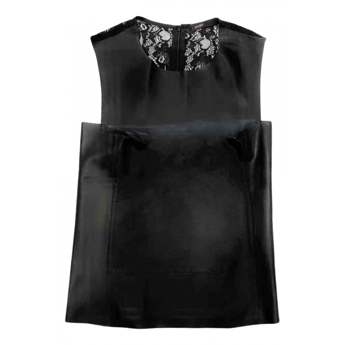 Maje \N Black Leather  top for Women 34 FR
