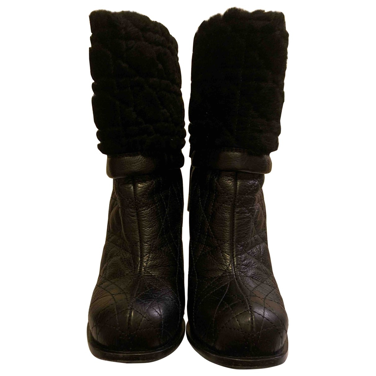 Dior \N Black Leather Boots for Women 39 EU