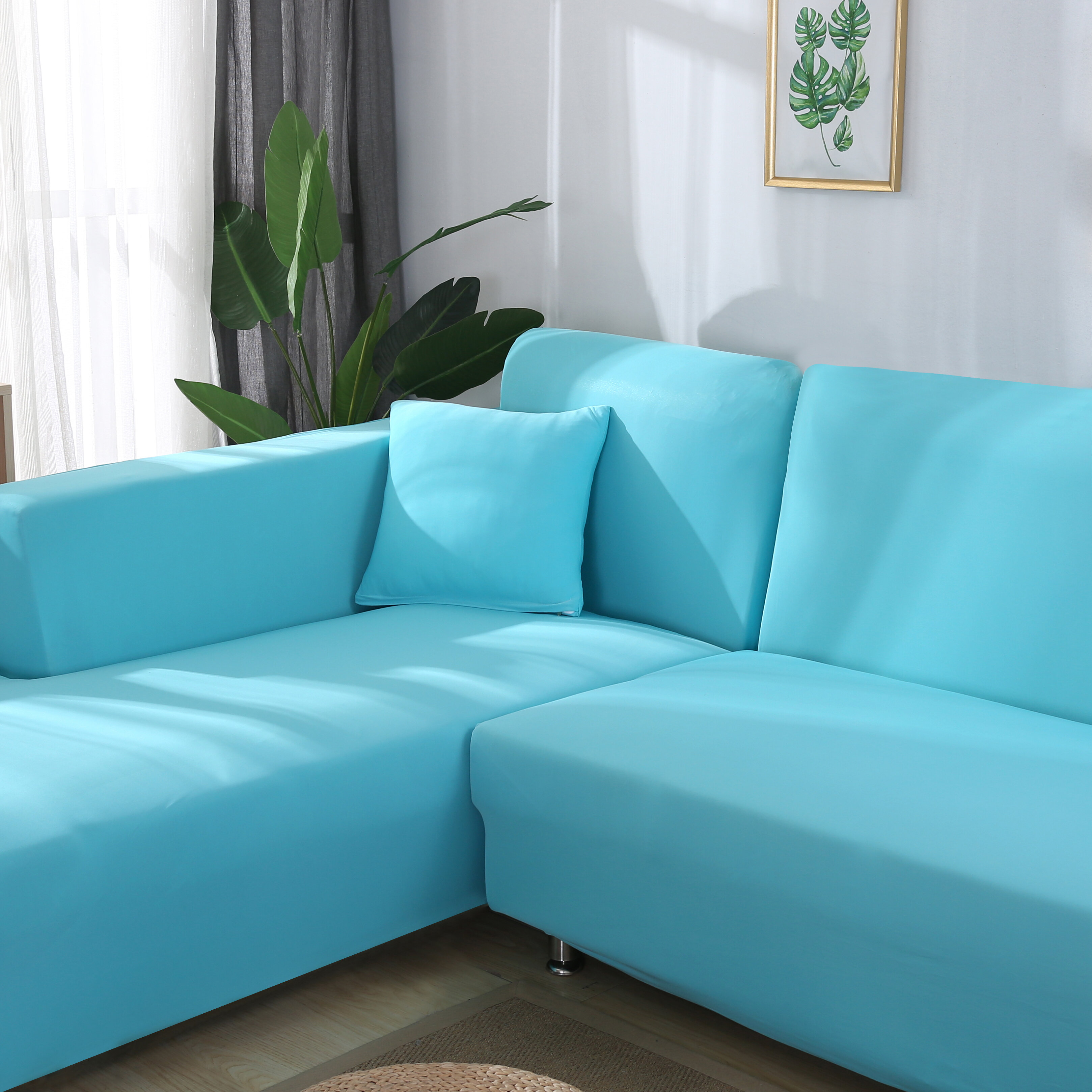 Premium Quality Stretchable Elastic Sofa Covers Premium All-Season Sofa Slip Covers Pet-Friendly and Stain-Resistant