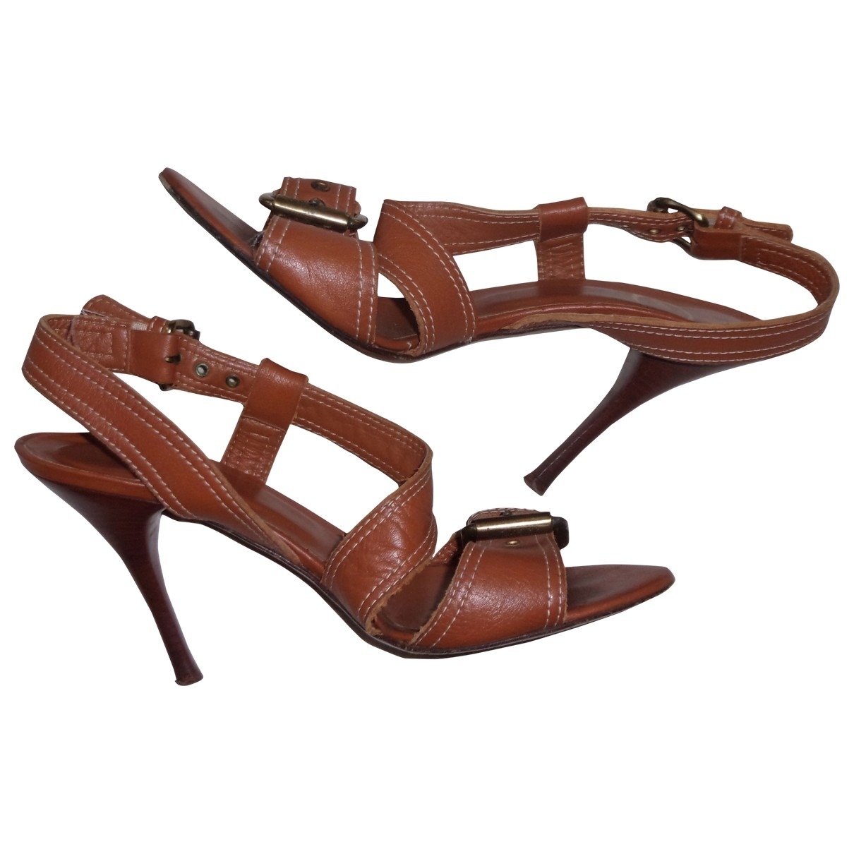 Just Cavalli \N Brown Leather Sandals for Women 39.5 EU