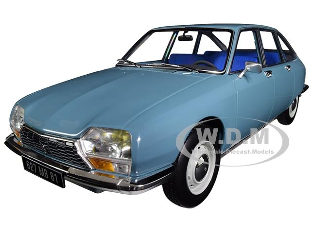 1972 Citroen GS Club Camargue Blue 1/18 Diecast Model Car by Norev