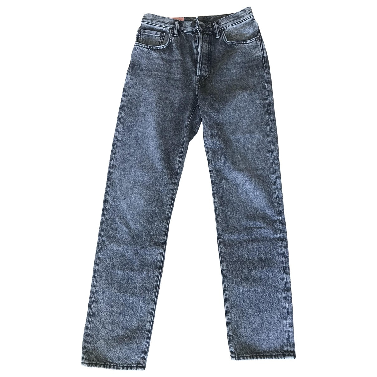 Acne Studios Blå Konst Grey Cotton Jeans for Women 29 US