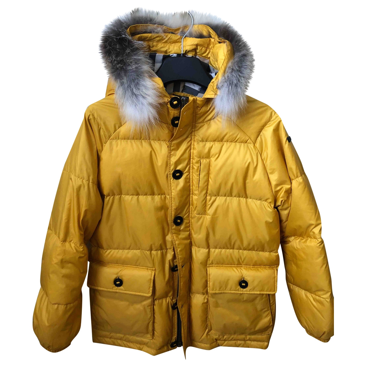 Burberry \N Yellow jacket & coat for Kids 12 years - XS FR