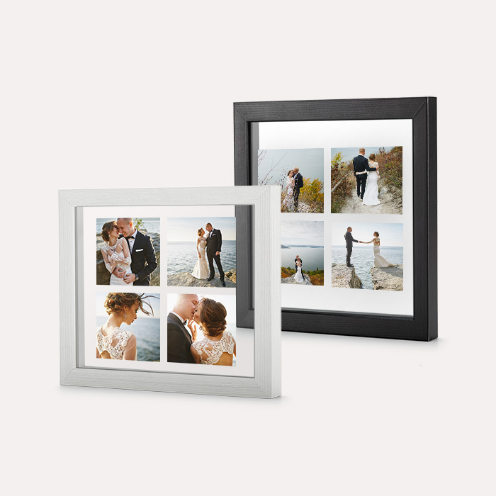 Custom Floating Frame - Rustic White w/ No Backer 4x4 Print, Home Décor