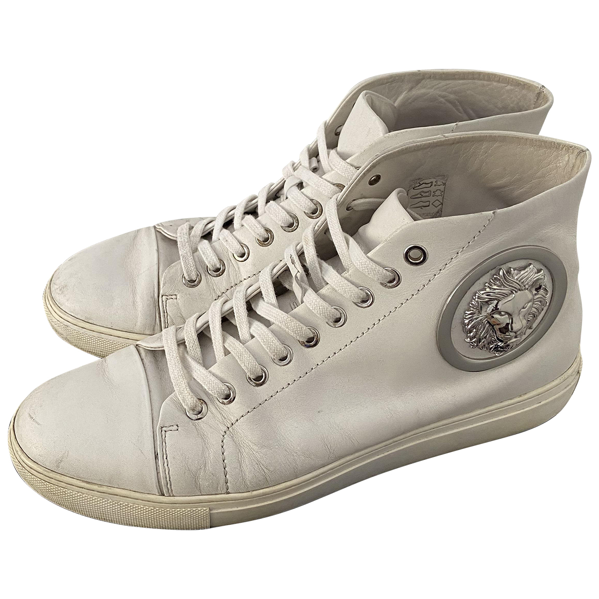 Versace \N White Leather Trainers for Men 42 EU