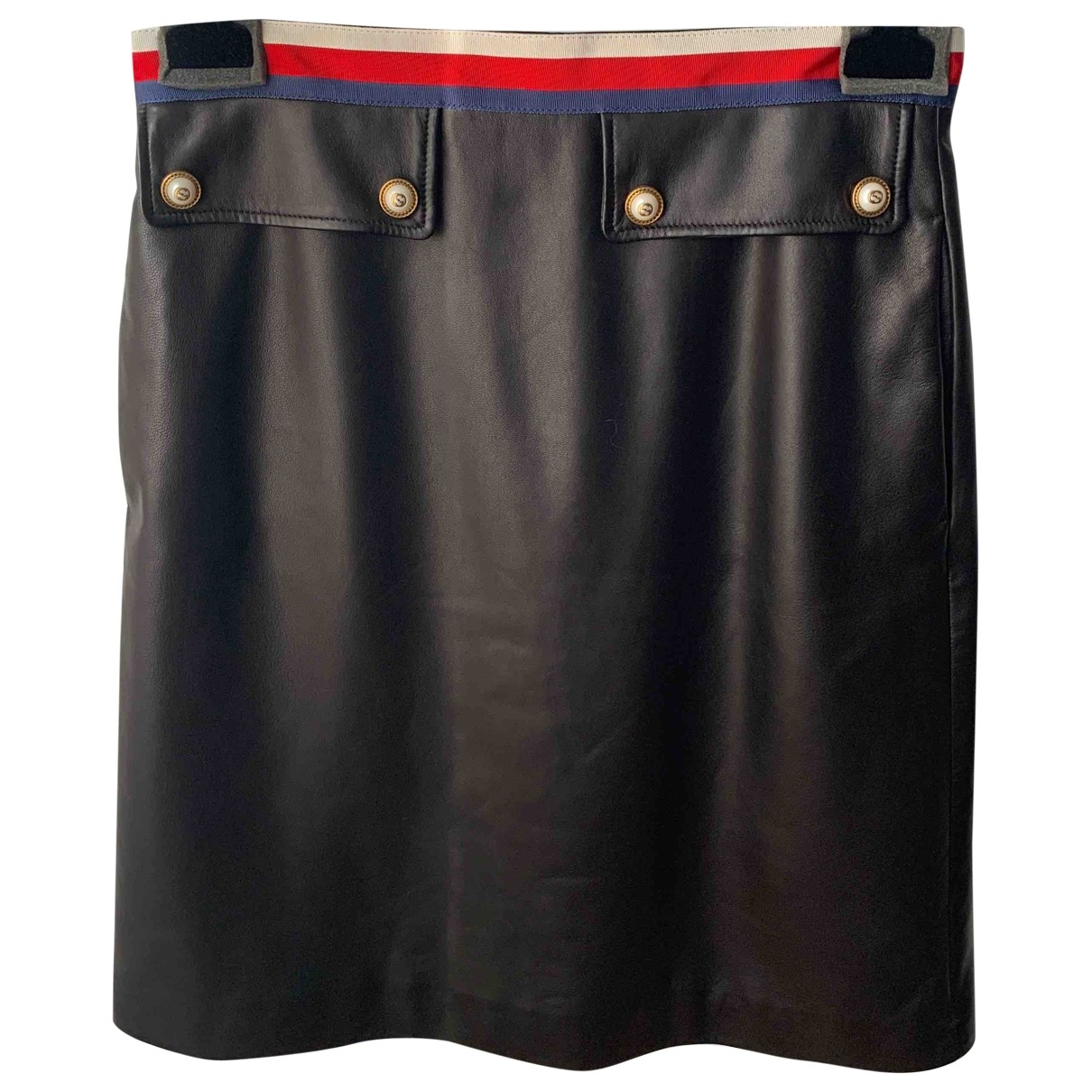 Gucci \N Black Leather skirt for Women 44 IT