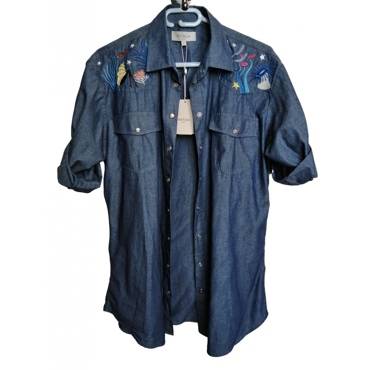 Paul & Joe \N Blue Denim - Jeans  top for Women 36 FR