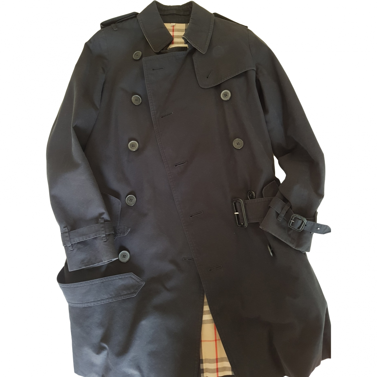 Burberry \N Black Cotton Trench coat for Women 38 IT