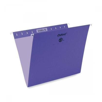 Pendaflex@ Essentials Esselte Oxford Colored Hanging File Folders - Violet ,Letter