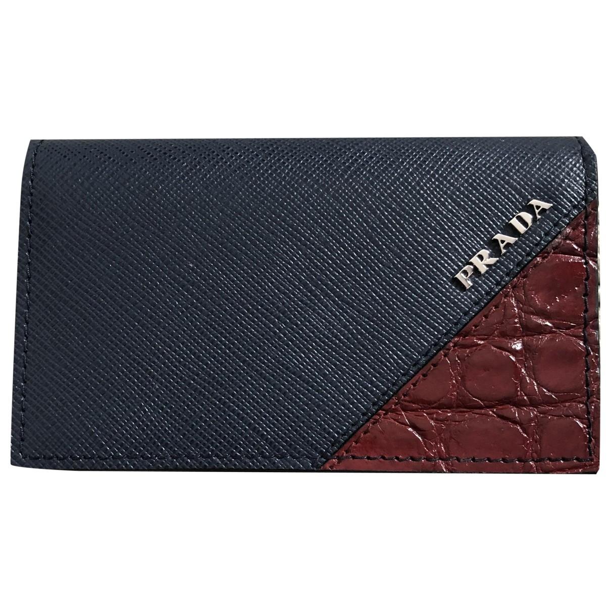 Prada \N Blue Leather Purses, wallet & cases for Women \N