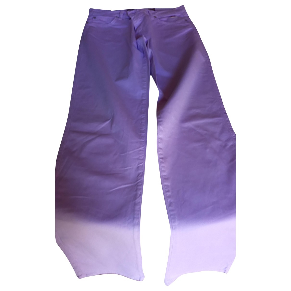 Roy Roger's \N Purple Cotton Jeans for Women 28 US