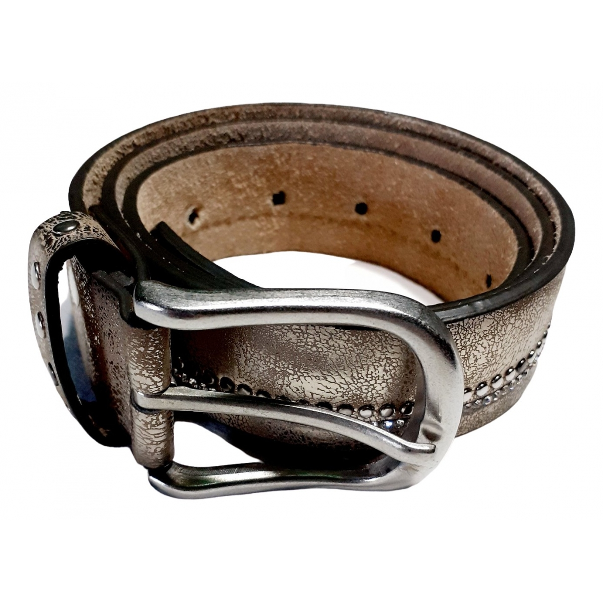 Non Signé / Unsigned \N Silver Leather belt for Women S International
