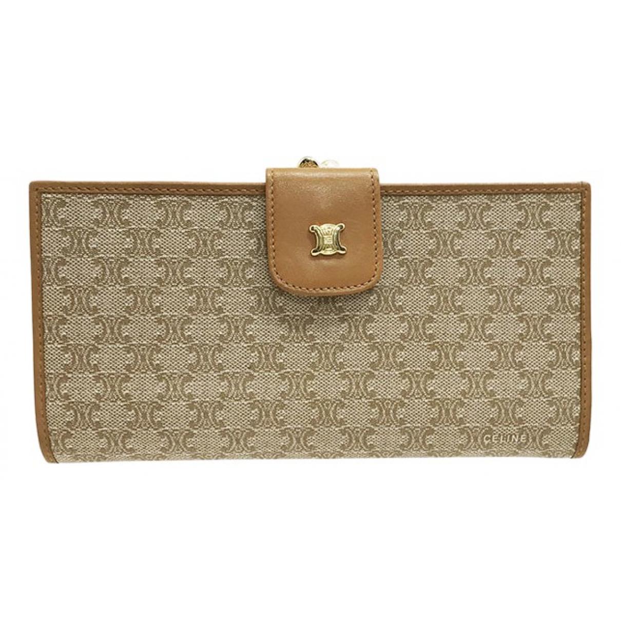 Celine \N Beige Cloth wallet for Women \N