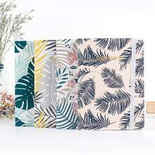 1pack Leaf Print Cover Random Notebook