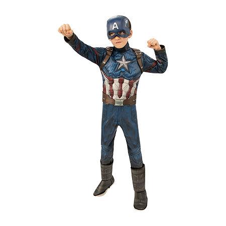Captain America Costume - Boys, X-small , Blue