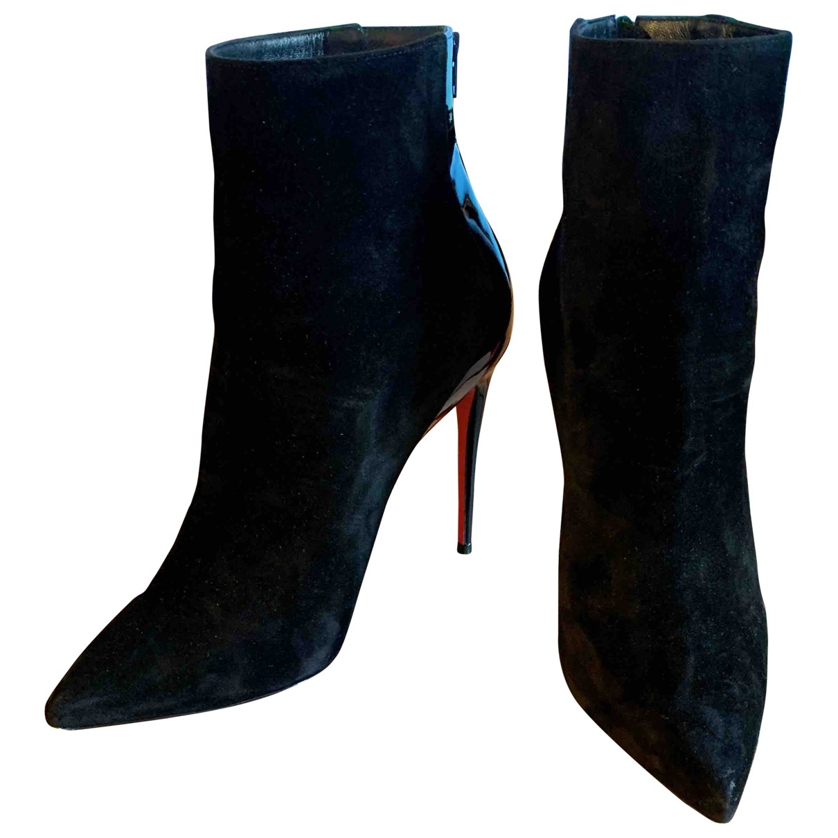 Christian Louboutin \N Black Suede Ankle boots for Women 38 EU