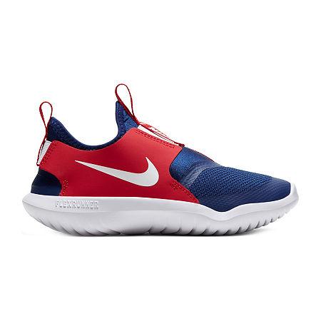 Nike Flex Runner Boys Running Shoes, 11 Medium, White