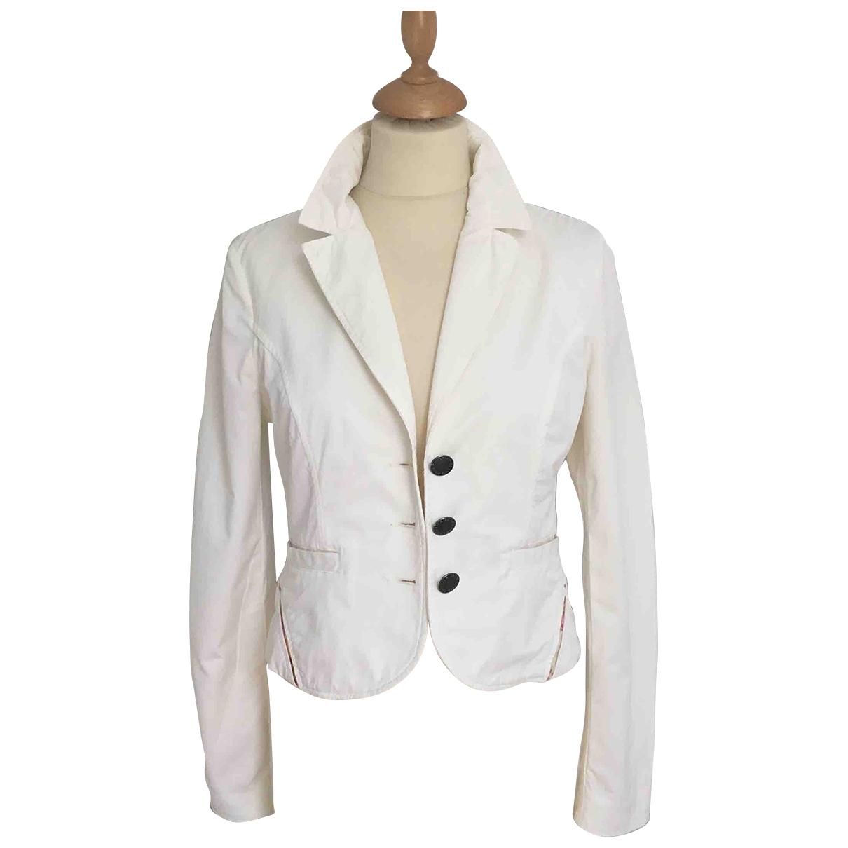 Jean Paul Gaultier \N Ecru Cotton jacket for Women 36 FR