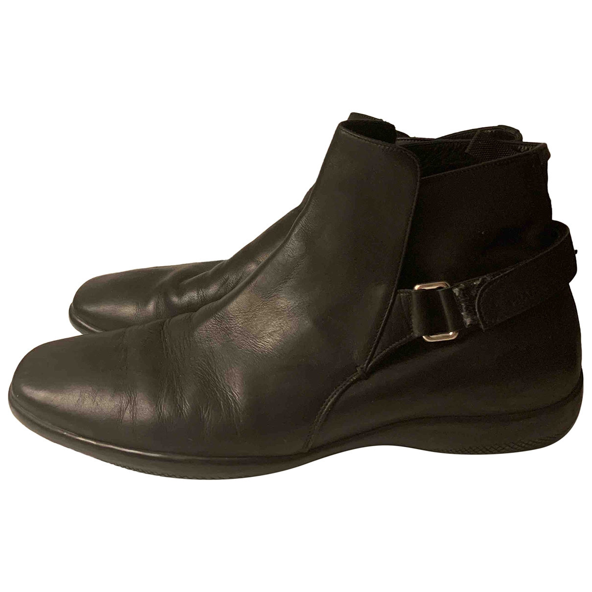 Prada \N Black Leather Boots for Men 9 UK