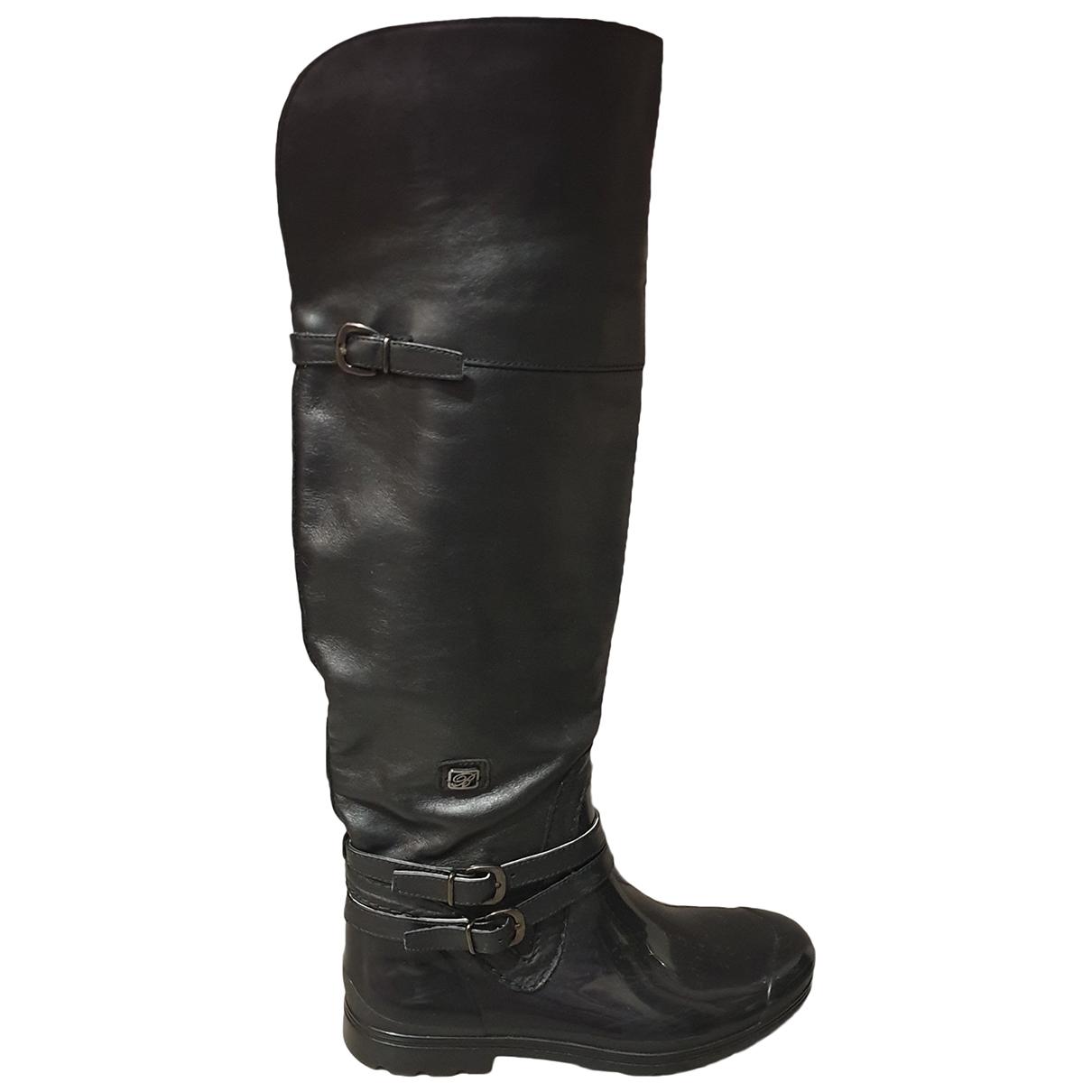 Blumarine \N Black Leather Boots for Women 39 EU