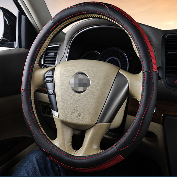 High Quality Black And Red Matching Colors Steering Wheel Cover