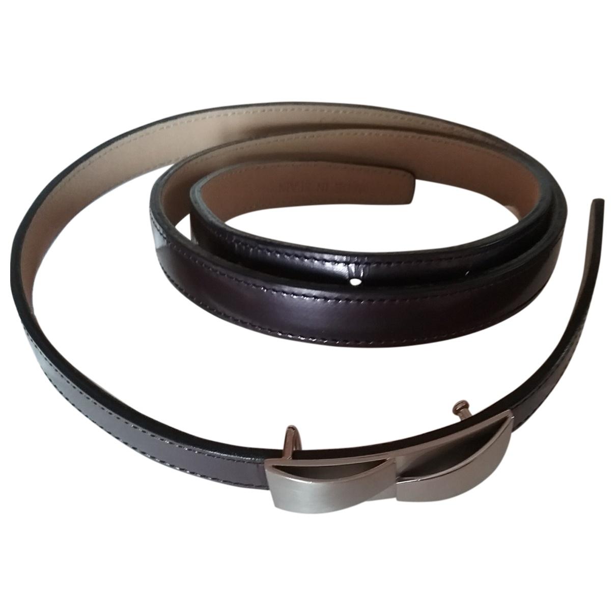 Loewe \N Leather belt for Women 85 cm