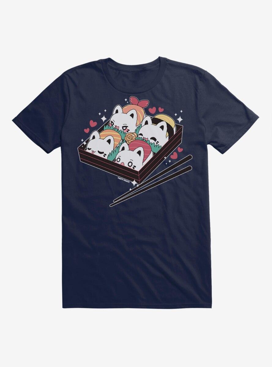 Tasty Peach Meowchi Sushi Bento T-Shirt