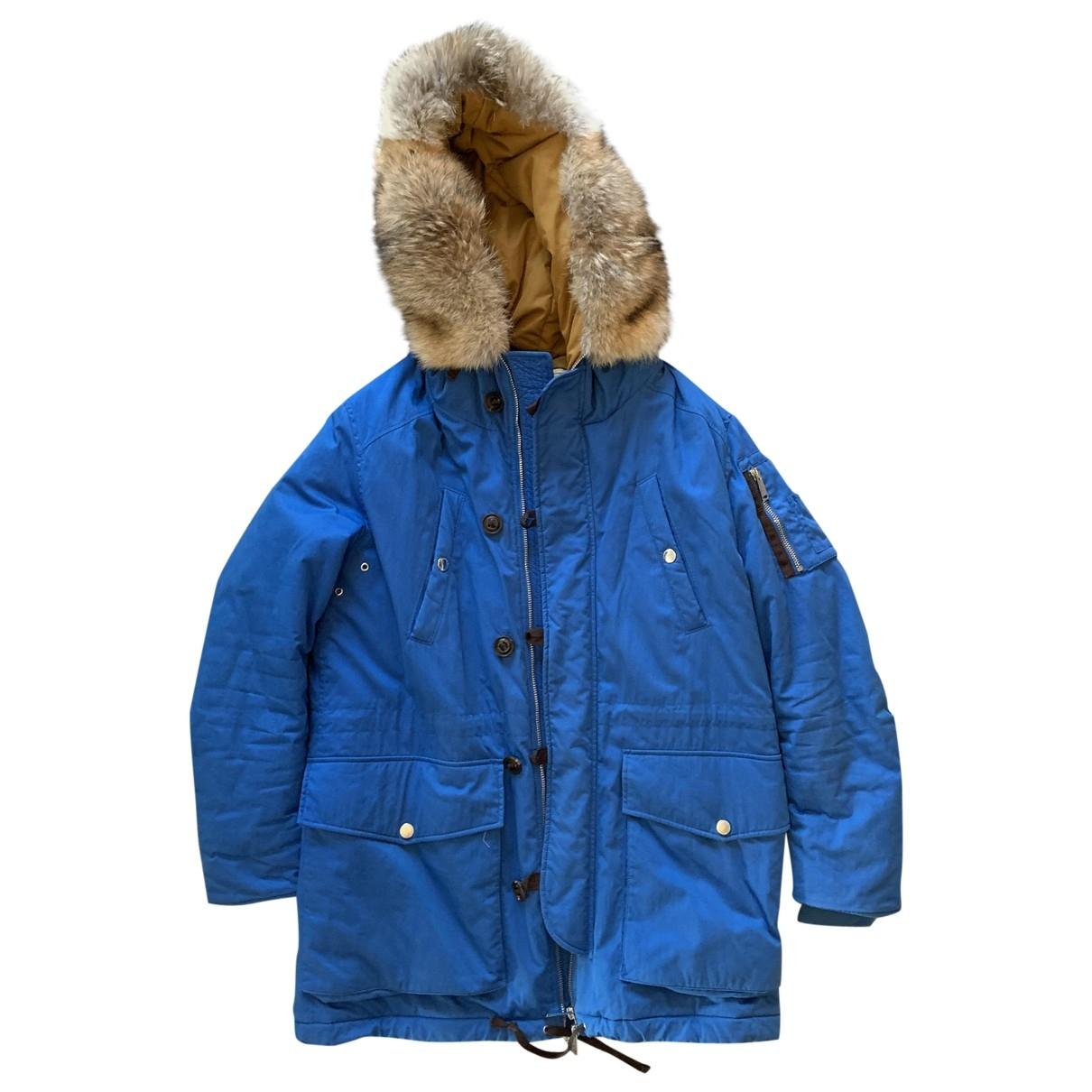 Dsquared2 \N Blue Cotton coat  for Men XL International