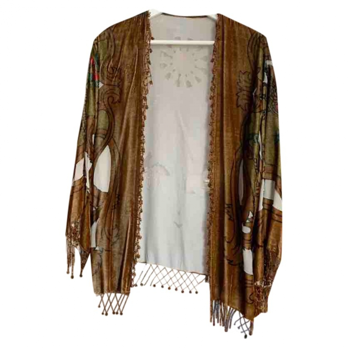 Non Sign?? / Unsigned \N Beige Silk  top for Women M International