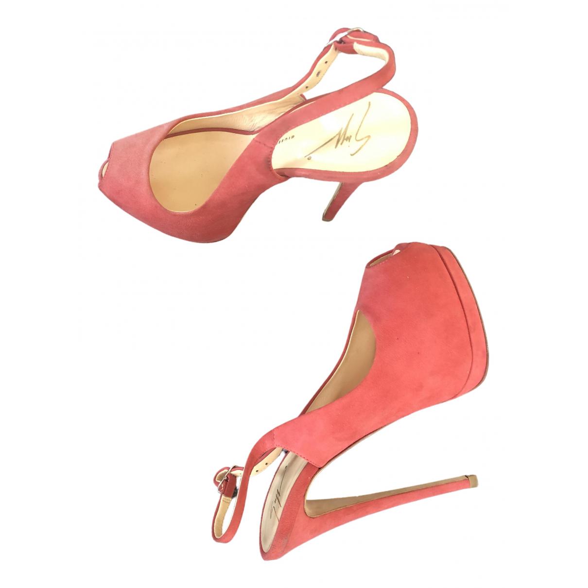 Giuseppe Zanotti \N Pink Suede Heels for Women 37 EU