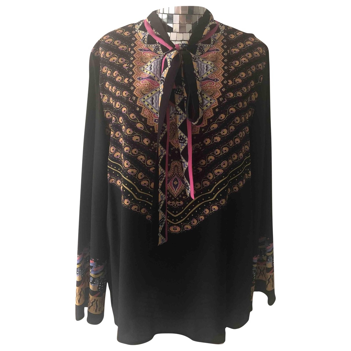 Etro \N Black Silk  top for Women 46 IT