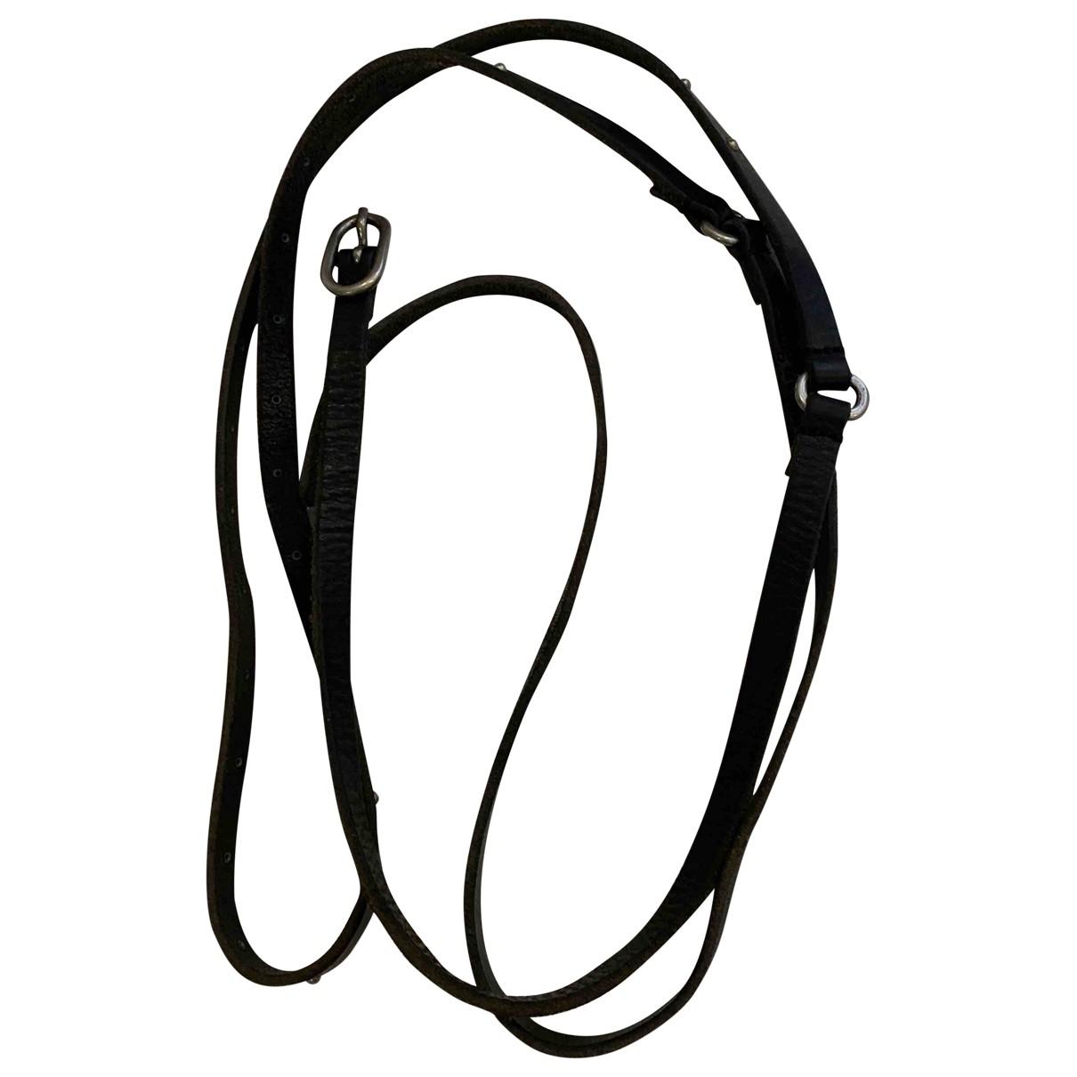 Zadig & Voltaire \N Black Leather belt for Women 85 cm