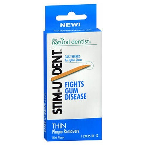Stim-U-Dent Plaque Removers Thin Mint 160 each by Natural Dentist