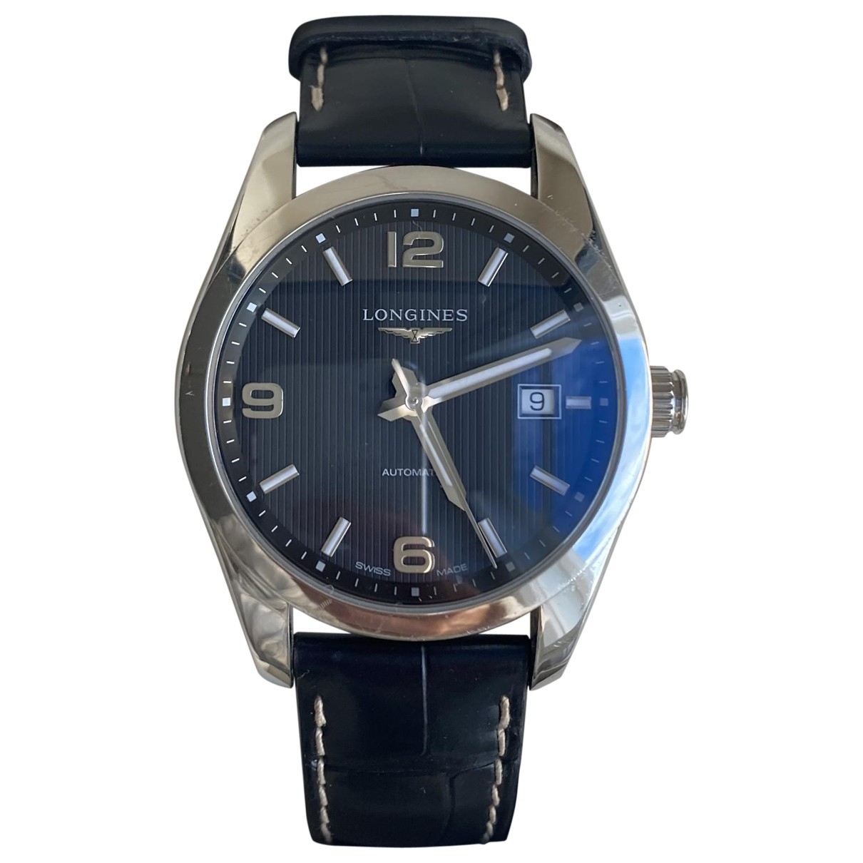 Longines Conquest  Black Steel watch for Men \N