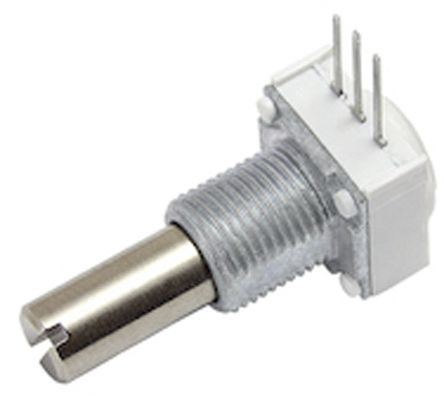Vishay 1 Gang Rotary Cermet Potentiometer with an 6.35 mm Dia. Shaft - 50kΩ, ±10%, 1W Power Rating, Linear, Panel Mount