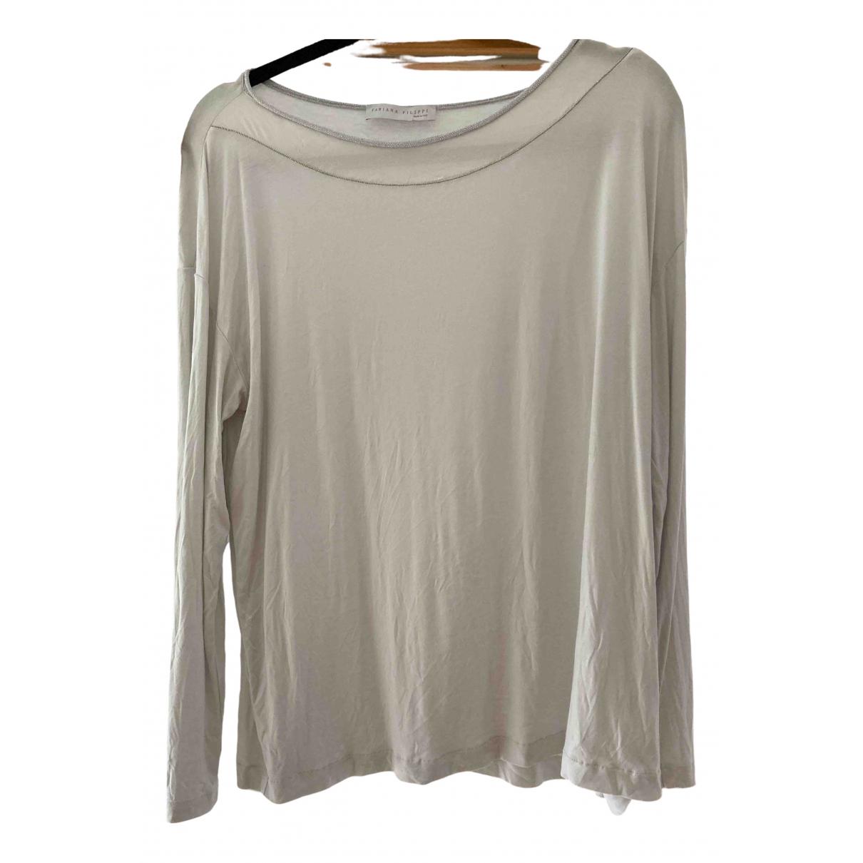 Fabiana Filippi \N Silver Silk Leather jacket for Women 50-52 IT