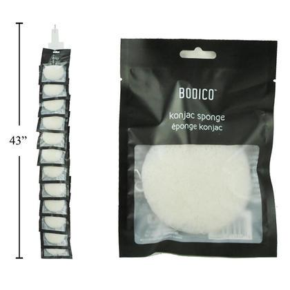 Konjac éponge naturelle pour le nettoyage du visage et le démaquillant, 1pc / pack