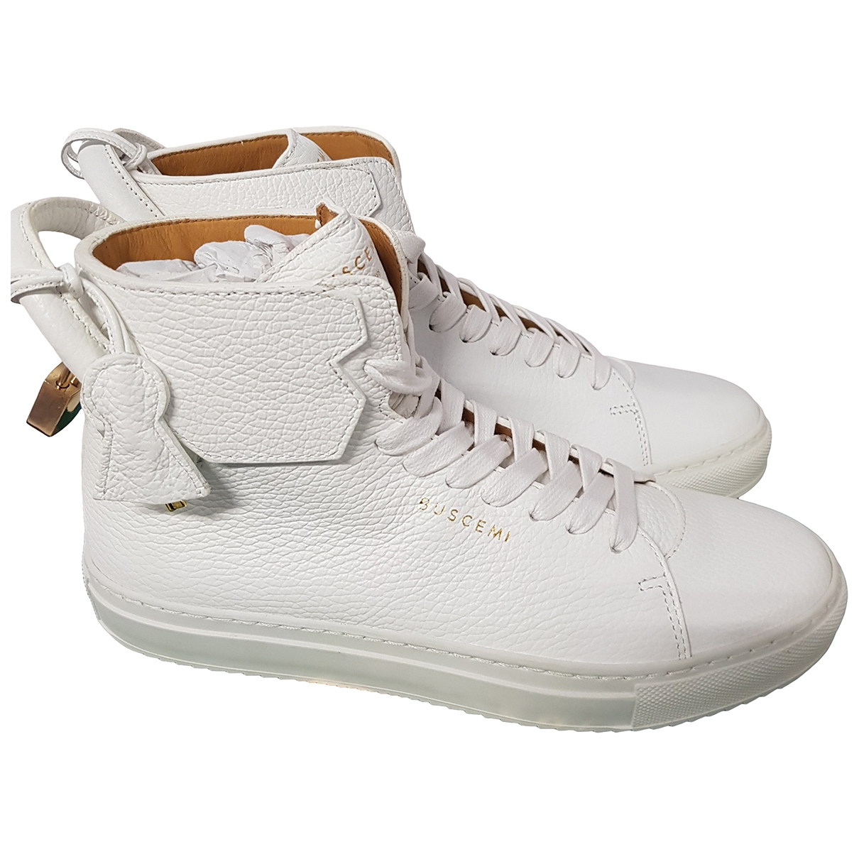 Buscemi \N White Leather Trainers for Women 40 EU