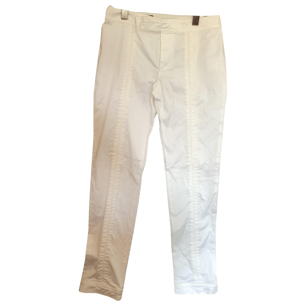 Gucci \N White Cotton Trousers for Women 34 FR