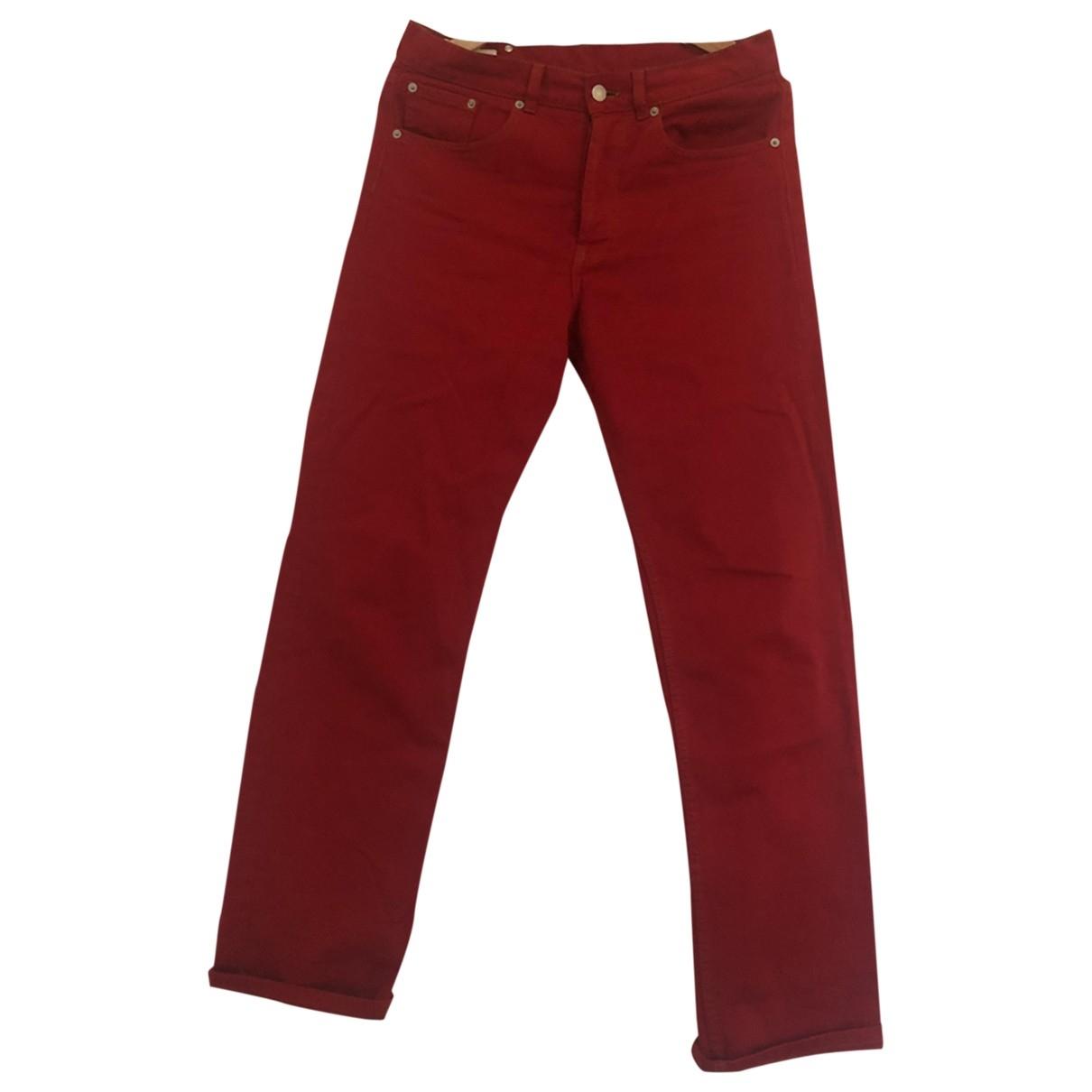 Dries Van Noten \N Red Cotton Jeans for Men 31 US