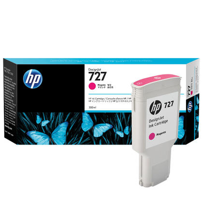HP 727 F9J77A Original Magenta Ink Cartridge High Yield 300ml